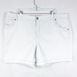 3/30 Lane Bryant  | White Denim Shorts